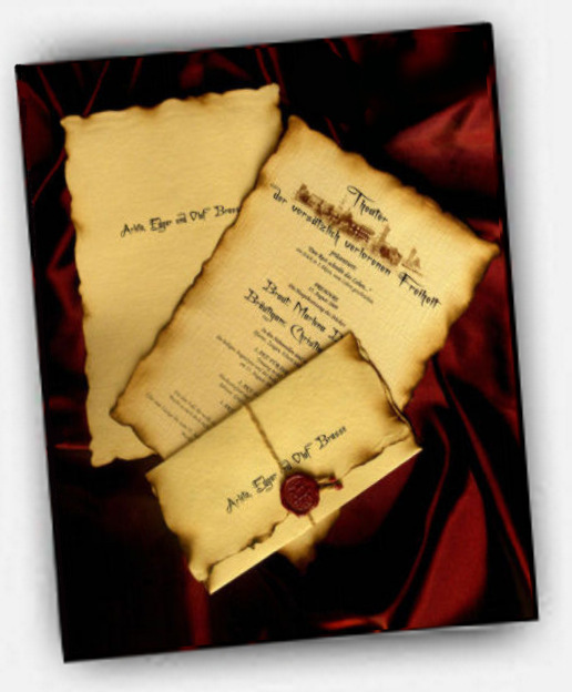 Vintage wedding invitation - Horizon Team - Parchment ...