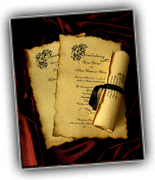 old english style wedding invitations