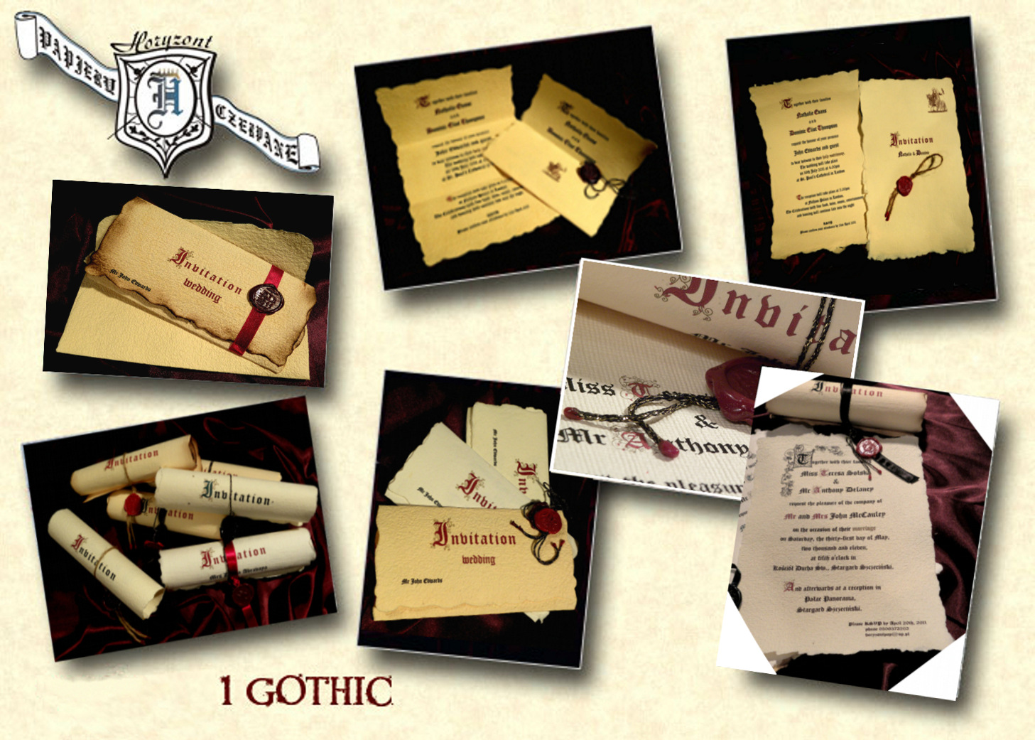 gothic wedding invitations - Medieval Wedding Invitations