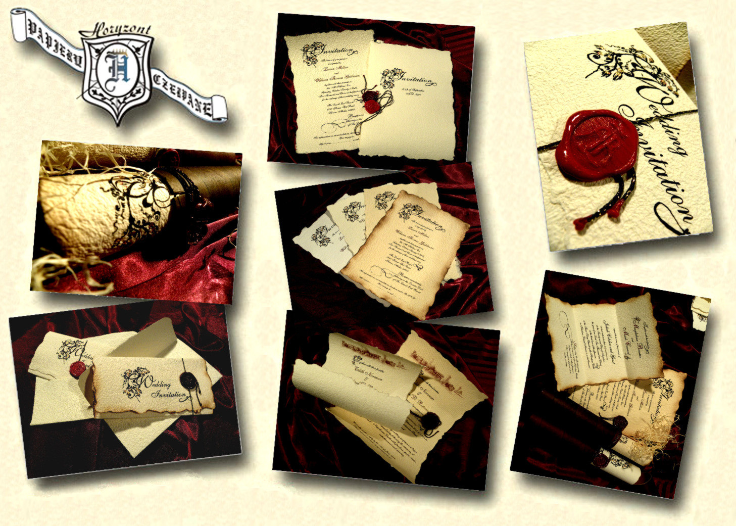 English style-Vintage-Renaissance Wedding Invitations UK